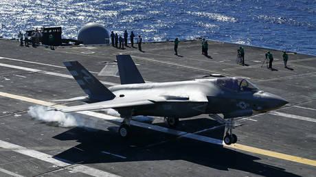FILE PHOTO: F-35C fighter jet.