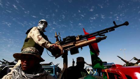 File photo: A NATO-backed militant in Ajdabiyah, Libya, April 14, 2011