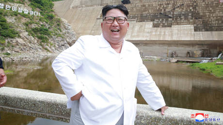 FILE PHOTO: North Korean leader Kim Jong Un during his visit to the under construction Orangchon Power Station in this undated photo released by North Korea's Korean Central News Agency (KCNA) in Pyongyang. July 17, 2018