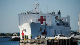 Los Angeles man tries to RAM train into 'suspicious' US Navy hospital ship 'to wake people up'