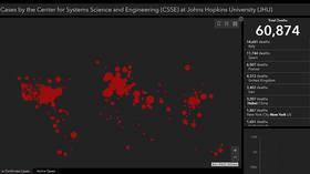 Global Covid-19 death toll surpasses 60,000 – Johns Hopkins University