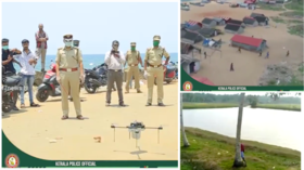 Indian police release footage of DRONES hunting lockdown violators complete with hilarious commentary