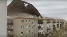 WATCH powerful winds TEAR ROOF off 5-storey apartment building in Kazakhstan