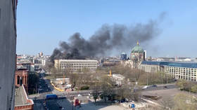One injured as fire engulfs new building at Berlin City Palace (PHOTO, VIDEO)