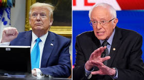 Trump blames Warren & DNC for Sanders ending campaign, INVITES 'Bernie people' to the Republican Party