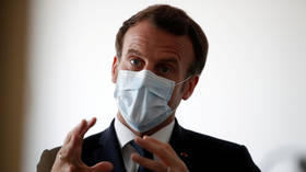 Leaked footage shows Emmanuel Macron arguing with hospital worker just days before extending France's Covid-19 lockdown