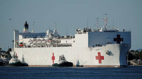 Mysterious Covid-19 outbreak forces US Navy to quarantine 116 crew on HOSPITAL ship treating handful of non-coronavirus patients