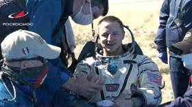 Soyuz MS-15 spacecraft with 3 crew members lands safely after completing mission on International Space Station (VIDEO)
