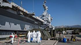 Almost HALF of French Charles de Gaulle aircraft carrier group tested positive for Covid-19