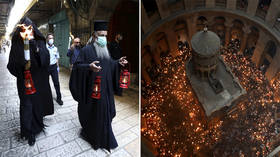 This Easter is different: WATCH Holy Fire descend in Jerusalem amid coronavirus lockdown