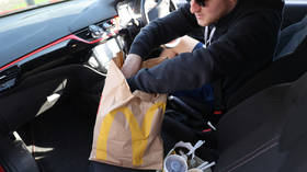 Customers wait in line for HOURS at reopened McDonald's drive-thru in still-locked-down France