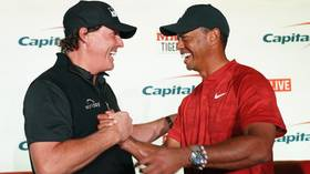 GOATS collide! Tiger Woods and Phil Mickleson to be partnered by NFL legends Peyton Manning and Tom Brady in pro-am golf showdown