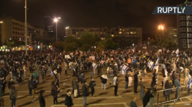 Demonstrators swarm Tel Aviv to decry Netanyahu-Gantz 'unity deal' as affront to justice system (VIDEO)