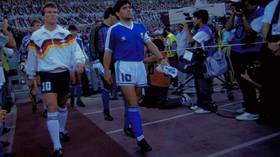 Referee: Maradona could have been SENT OFF for SWEARING while the anthems were being sung before the 1990 World Cup final (VIDEO)