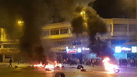 WATCH: Lebanese citizens vent their ire by TORCHING bank, army vehicle, as at least 1 protester shot dead