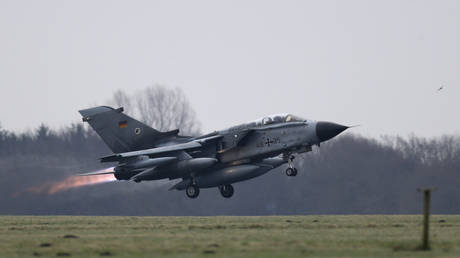 FILE PHOTO: German air force Tornado jet