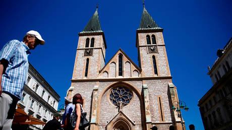 Sacred Heart Cathedral in Sarajevo, Bosnia-Herzegovina (FILE PHOTO)