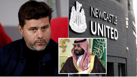 Mauricio Pochettino (L) has been linked with the Newcastle job amid the impending Saudi-led takeover. © Reuters / Sputnik /  Kremlin pool