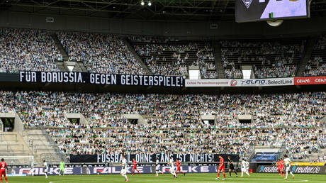 Not cut out for it: 12,000 cardboard fans fail to spur German team on to victory
