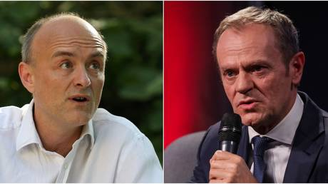 'He left when he should stay!' Donald Tusk takes Brexit-themed jab at Cummings on Twitter