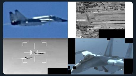 AFRICOM tweet showing pictures of 'Russian' jets allegedly sent to Libya, May 26, 2020