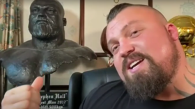 'I'll rip your HEAD off': Eddie Hall warns Hafthor Bjornsson he will 'knock him the f*ck out' as strongman row erupts (VIDEO)