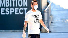 Checking in: Masked Messi back at Barcelona training ground in GLOVES to take Covid-19 test with teammates after SIX WEEKS at home