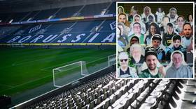 Packing the stands: Borussia Monchengladbach fans order 12,000 CARDBOARD CUT-OUTS of themselves for Bundesliga return (PHOTOS)
