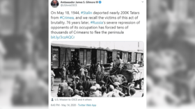 In major gaffe, US envoy MISTAKES Holocaust victims for Crimean Tatars… and he is NOT the first to do it