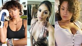 Good enough to eat: Ex-UFC stunner Pearl Gonzalez wraps naked body in fruit roll-ups as she recovers from grappling loss (PHOTOS)