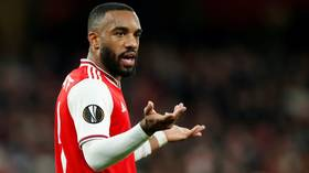 Arsenal EXASPERATED as footage emerges of striker Alexandre Lacazette appearing to inhale 'HIPPY CRACK' from balloon AGAIN (VIDEO)