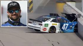 'Pretty embarrassing': Driver left red-faced after crashing on FIRST LAP as NASCAR returns from coronavirus shutdown (VIDEO)