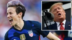 US soccer star Megan Rapinoe takes aim at Donald Trump: 'We have a WHITE NATIONALIST in the White House'