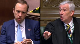 Speaker Hoyle threatens to EJECT UK health secretary from Commons after Hancock heckles opposition leader (VIDEO)
