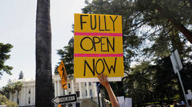 Hundreds call for 'end to tyranny' in anti-lockdown protest at California state Capitol (PHOTOS, VIDEO)