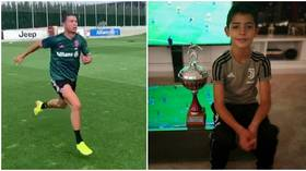 Nice Ron, son: Cristiano Jr shows speed as he sprints after dad ahead of Juventus comeback (VIDEO)