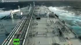 WATCH Iranian tanker brave rough seas while carrying 1st oil shipment for Venezuela (VIDEO)