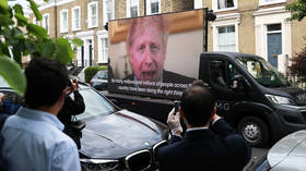 BoJo's adviser Cummings trolled outside his residence with video of UK PM saying 'STAY HOME'