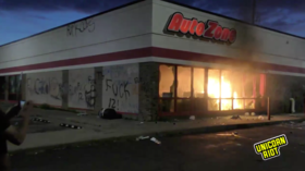 Stores set ABLAZE in Minneapolis as police struggle to contain anti-brutality protests (VIDEOS)