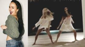 Dancing in the moonlight: Russian synchronized swimmer shares STUNNING routine with pop-star sister (VIDEO)