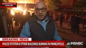 MSNBC reporter takes heat for calling Minneapolis unrest 'NOT UNRULY' in front of BURNING buildings
