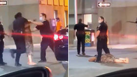 Woman gets KNOCKED OUT by cop after punching officer twice (VIDEO)