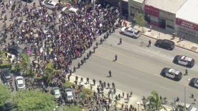 MASSIVE rallies block roads in Los Angeles as anti-police-brutality protesters demand justice for George Floyd (VIDEOS)