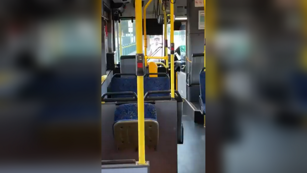 Half-naked man violently attacks public bus in Adelaide