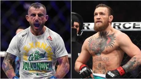 Alexander Volkanovski and Conor McGregor. © USA TODAY Sports