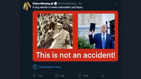 © Debra Messing / Twitter / screenshot