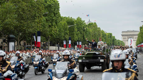 The Bastille Day military parade at the Champs-Elysees avenue in Paris, France, July 14, 2019. © Reuters / Eliot Blondet / Pool