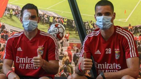 Julian Weigl and Andrija Zivkovic were injured during the Benfica team bus attack © Instagram / zivkovic17