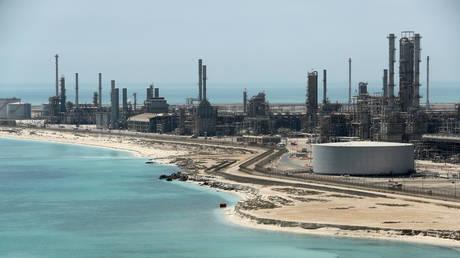 Ras Tanura oil refinery and oil terminal in Saudi Arabia