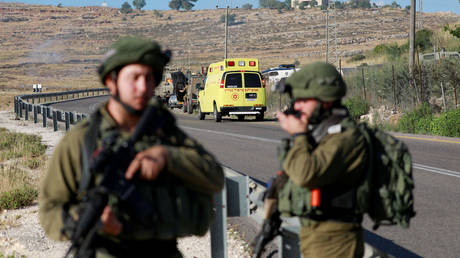 Israeli forces near Ramallah in the Israeli-occupied West Bank May 29, 2020.